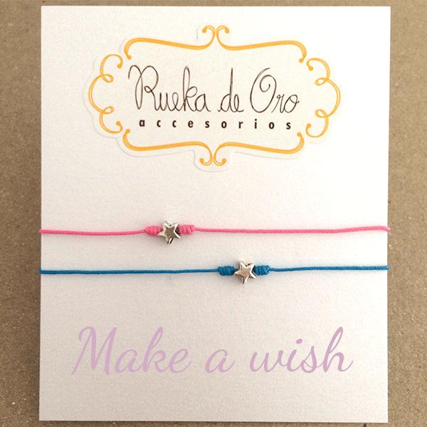 0c7be736d014 Pulseras Make a Wish (x2 unid) - Rueka de Oro